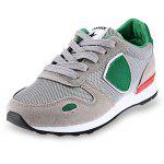 Casual Color Block Height Increasing Cushion Running Shoes for Women - GRAY