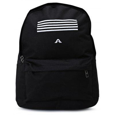 Fashion Leisure Stripe Water Resistant Canvas Backpack