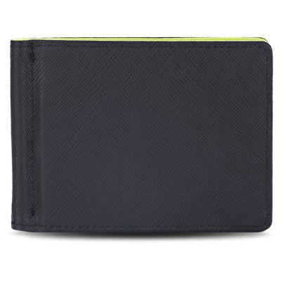 Dull Polish Letter Horizontal Hard Cash Clip Money Wallet