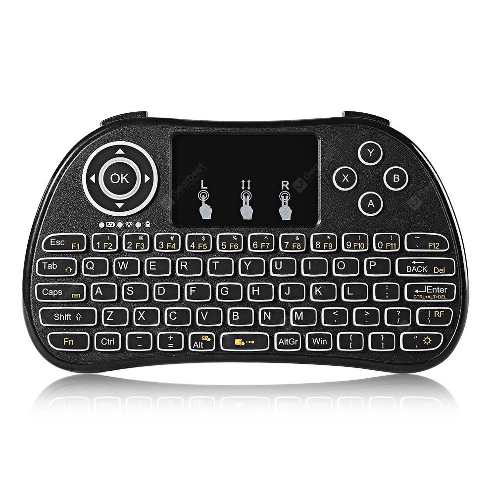 TZ P9 Wireless Mini Keyboard with Mouse Touchpad - noir