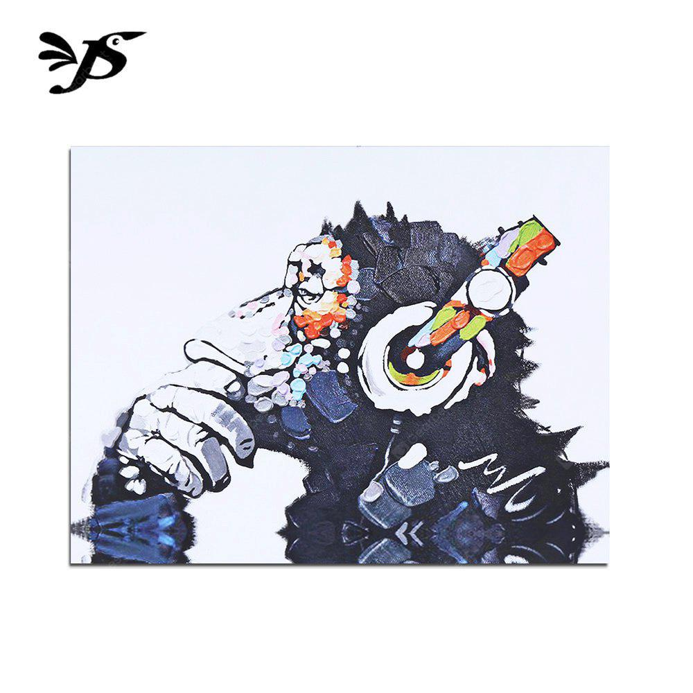 Jingsheng Unframed Chimp Pattern Canvas Painting