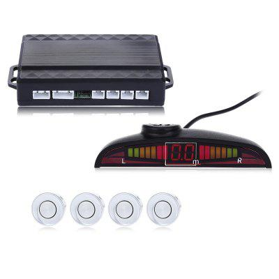 4 Parking Sensors Voice Backup Radar Speech Alarm System
