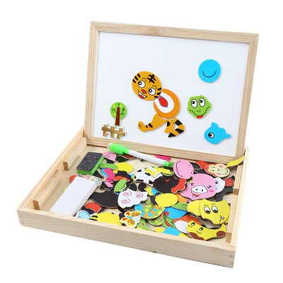 Muwanzi Wooden Puzzle Kids Drawing Board