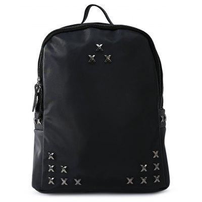 Female Leisure Rivet Oxford Backpack