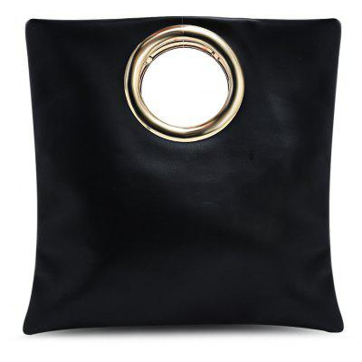 Fashion Simple Metal Ring Handbag for Women