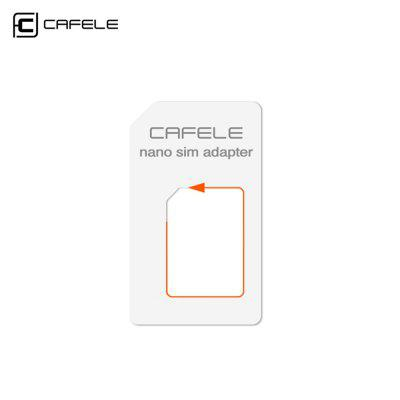 CAFELE 4 in 1 SIM Card Adapter Micro + Double Nano + NeedleOthers Phone Parts<br>CAFELE 4 in 1 SIM Card Adapter Micro + Double Nano + Needle<br><br>Package Contents: 1 x 4 in 1 SIM Card Adapter Kit<br>Package Size(L x W x H): 5.00 x 5.00 x 5.00 cm / 1.97 x 1.97 x 1.97 inches<br>Package weight: 0.0400 kg<br>Product weight: 0.0150 kg