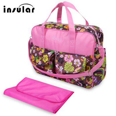 Insular Waterproof Colorful Printed Zipper Clossure Shoulder Handbag Mummy Diaper Bag