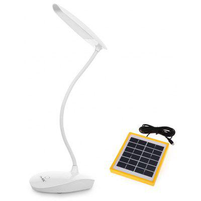 KKBOL 6W Solar Powered LED Desk Lamp with USB