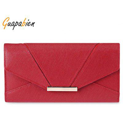 Guapabien Buckle Design Large Storage Ladies Card Wallet