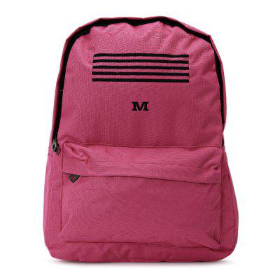 Leisure Stripe Water  Resistant Canvas Backpack
