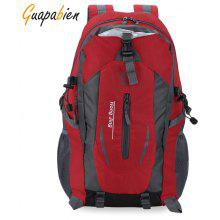 Guapabien Patchwork S Shape Mesh Strap Outdoor Portable Backpack