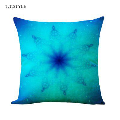 T.T.STYLE Flowery Cotton Linen Pillow Cover Home Decoration