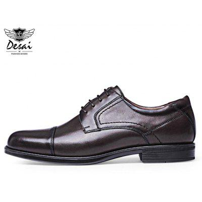 DESAI Business Pointed Toe Homme Chaussures en cuir à lacets