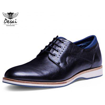 DESAI Genuine Leather Pointed Toe Business Shoes for Men