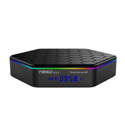 Sunvell T95Z Plus TV Box Amlogic S912 Octa CoreTV Box<br>Sunvell T95Z Plus TV Box Amlogic S912 Octa Core<br><br>5G WiFi: Yes<br>Audio format: AAC, FLAC, DDP, MP3, APE, AC3, WAV, OGG, TrueHD, WMA, DTS<br>Brand: Sunvell<br>Color: Black<br>Core: Octa Core, 2.0GHz<br>CPU: Amlogic S912<br>Decoder Format: RealVideo8/9/10, Xvid/DivX3/4/5/6, RM/RMVB, H.264/AVC, H.264, HD MPEG1/2/4, HD AVC/VC-1<br>DVD Support: Yes<br>External Subtitle Supported: No<br>GPU: ARM Mali-T820MP3<br>HDMI Version: 2.0<br>Interface: HDMI, RJ45, Optical, TF card, DC Power Port, USB2.0, AV<br>Language: Multi-language<br>Maximum External Hard Drives Capacity: 1TB<br>Model: T95Z Plus<br>Other Functions: DVD, Others<br>Package Contents: 1 x Sunvell T95Z Plus TV Box, 1 x Remote Control, 1 x HDMI Cable, 1 x Power Adapter, 1 x English Manual<br>Package size (L x W x H): 22.00 x 14.00 x 6.00 cm / 8.66 x 5.51 x 2.36 inches<br>Package weight: 0.5530 kg<br>Photo Format: GIF, JPEG, PNG, TIFF, BMP<br>Power Supply: Charge Adapter<br>Power Type: External Power Adapter Mode<br>Processor: Amlogic S912<br>Product size (L x W x H): 13.00 x 13.00 x 3.00 cm / 5.12 x 5.12 x 1.18 inches<br>Product weight: 0.2500 kg<br>RAM: 2G RAM,3G RAM<br>RAM Type: DDR3<br>ROM: 16G ROM,32G ROM<br>Support 5.1 Surround Sound Output: No<br>System: Android 7.1<br>System Bit: 64Bit<br>Type: TV Box<br>Video format: MKV, 1080P, AVI, AVS, DAT, VP9-10 Profile-2, VC-1, RM, MPG, MP4, MPEG-4, MPEG-1, MPEG, MOV, ISO, H.265, WMV