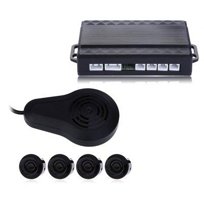 4 Parking Sensors Voice Backup Radar Sound Alarm System