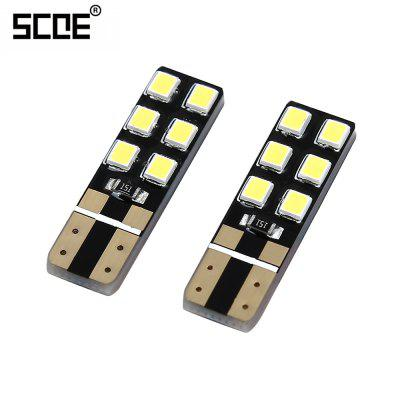 SCOE 2pcs T10 12SMD 12C LED License Plate Lamp