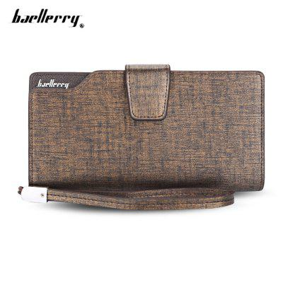Baellerry PU Handle Strap Card Holder Men Clutch Wallet
