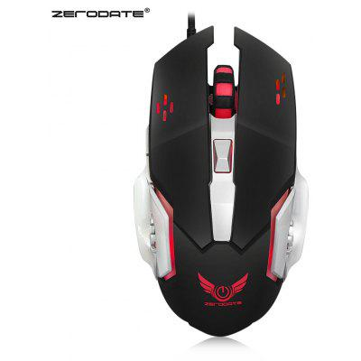 Buy BLACK ZERODATE X500 Wired Gaming Mouse with LED Light for $8.45 in GearBest store