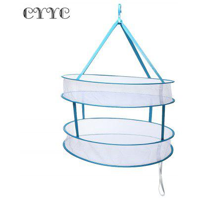 CYYC Two-tier Foldable Drying Racks for Hanging Sweater