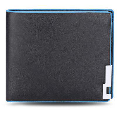 Unisex Solid Color Horizontal Short Open Wallet