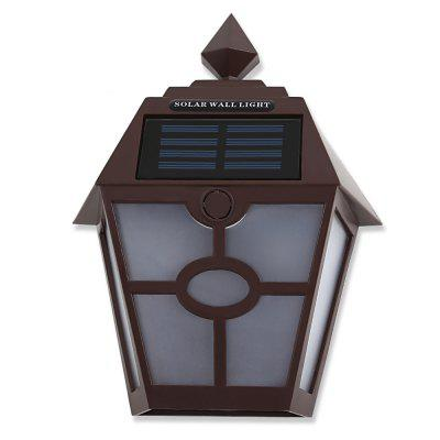 LED Solar Powered Hexagonal Wall Lamp Landscape Light