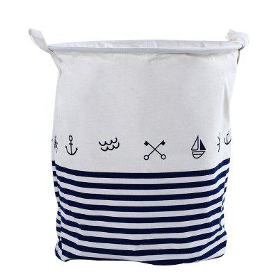 Cartoon Pattern Cotton Linen Laundry Hamper Toy Box