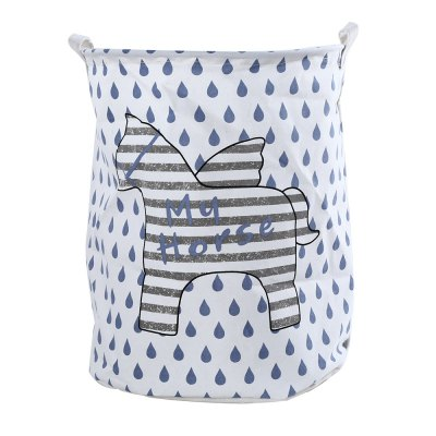 Cartoon Pattern Waterproof Canvas Laundry Basket Toy Box