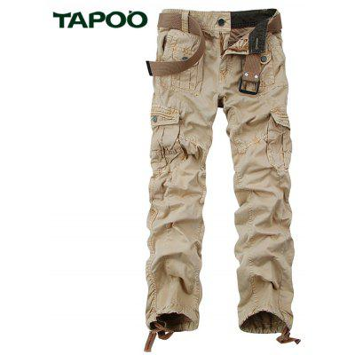 Buy KHAKI Tapoo Casual Pleated Style Ankle Tied Long Full Pants for Men for $62.66 in GearBest store