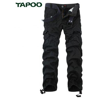 Buy BLACK Tapoo Casual Pleated Style Ankle Tied Long Full Pants for Men for $62.66 in GearBest store
