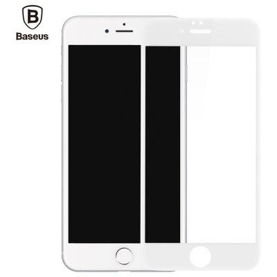 Buy WHITE Baseus 3D Silk-screen Tempered Glass Film for iPhone 6 / 6s for $5.63 in GearBest store