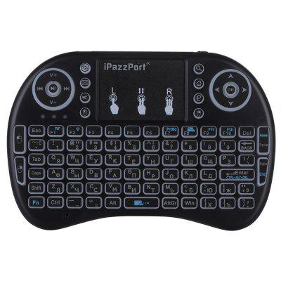 iPazzPort I8 Multifunction Portable 2.4GHz Wireless QWERTY Backlit Keyboard with Touchpad Mouse