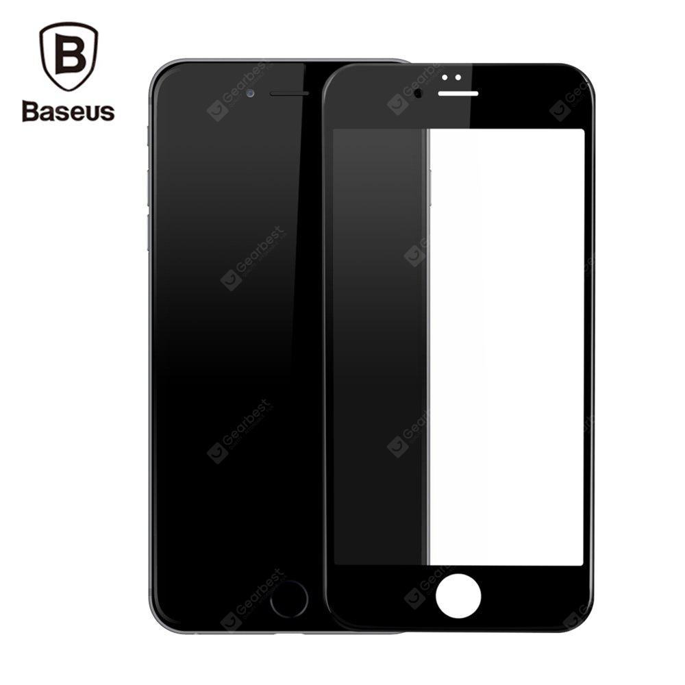BLACK Baseus 3D Silk-screen Tempered Glass Film for iPhone 6 / 6s