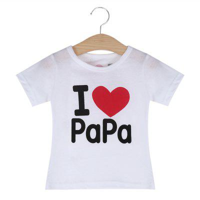 Heart Printed Cotton Children T-shirt