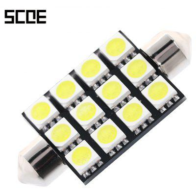 SCOE 12 SMD 42MM 12B LED Car Reading Lamp