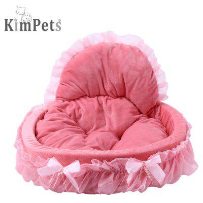 Kimpets Soft Washable Lace Pet Dog Cat Bed House Nest