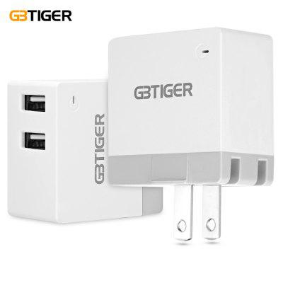 GBTIGER 2 USB 5V 2.4A Multifunctional LED Travel Adapter
