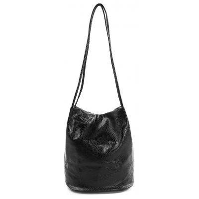 Large Capacity Simple PU Shoulder Bag for Women