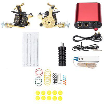 Pro Complete Tattoo Kit Machine Shader Gun Power Supply