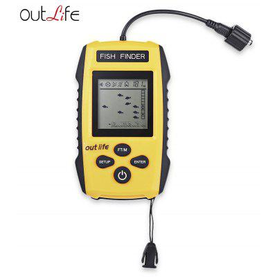 Outlife 0.7 - 100M Fish Finder 200KHz Sonar Fishing Transducer