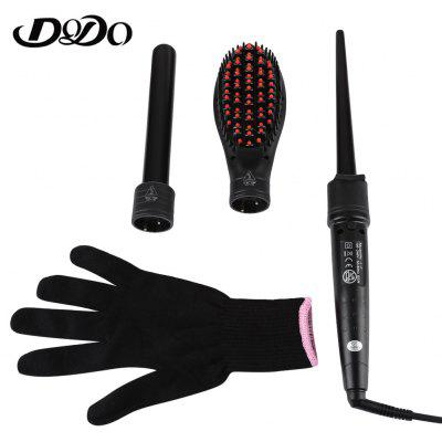 DODO Interchangeable Electric 3 in 1 Hair Curler Clip Tube Brush Styling Tool