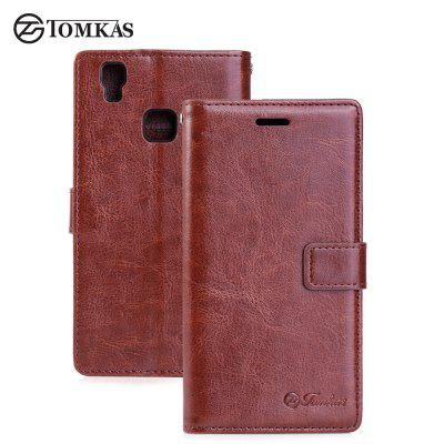 Tomkas Crazy Horse Series Wallet Case for DOOGEE X5 Max