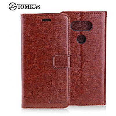 Tomkas Crazy Horse Series Wallet Full Body Case for LG G5