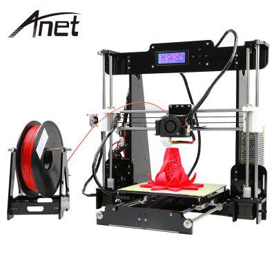 Anet A8 Desktop 3D Printer Prusa i3 DIY Kit - EU PLUG BLACK
