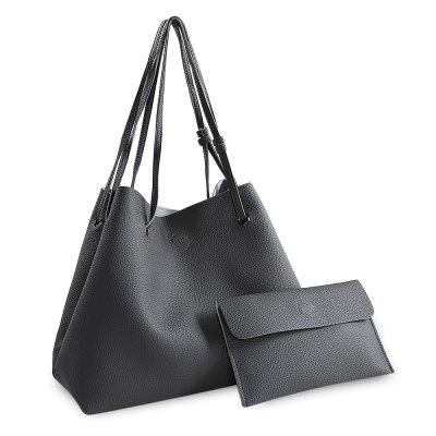 Fashion Simple PU Bucket Bag Handbag for Women