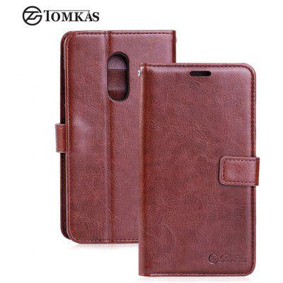 Tomkas Crazy Horse Series Wallet Case para Xiaomi Redmi Note 4