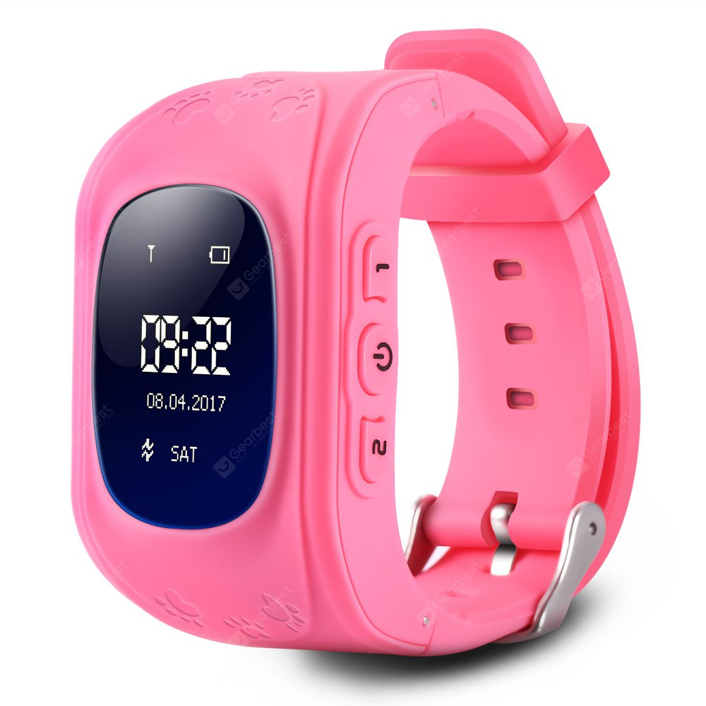 Q50 Kids OLED Display GPS Smart Watch Telephone - PINK ENGLISH VERSION