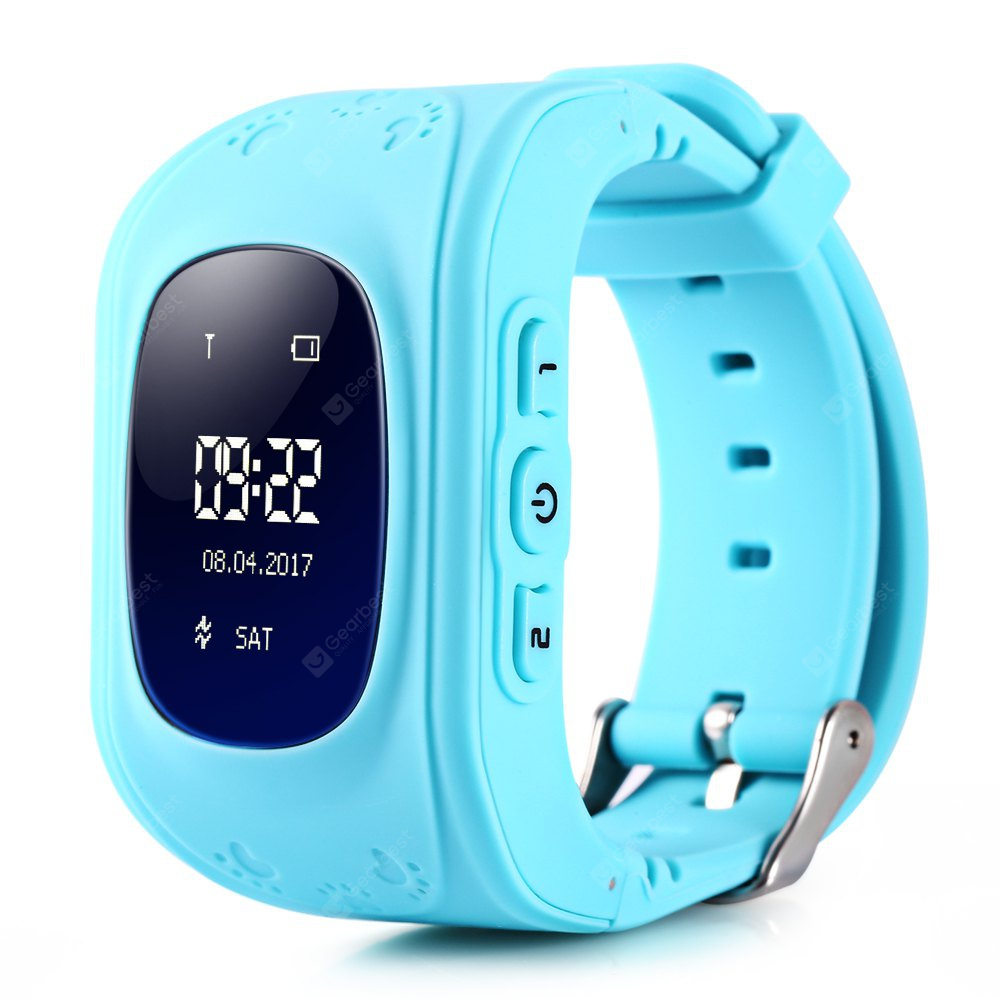Q50 Kids OLED Display GPS Smart Watch Telephone - BLUE ENGLISH VERSION