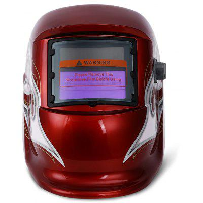 Electrical Welding Helmet Solar Energy Automatic Darkening Skull Mask