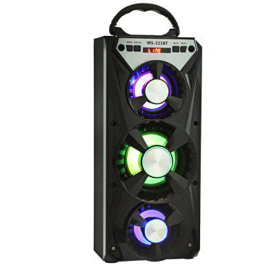 MS - 221BT Bluetooth Portable Speaker with LED Backlight